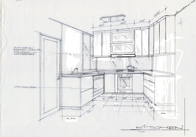 bricksNmortar   Modular Kitchen concept layout