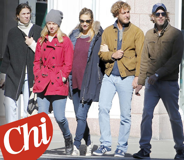 Pierre Casiraghi, Pregnant Beatrice Borromeo, Andrea Casiraghi, Tatiana Santo Domingo, Princess Alexandra were seen in New York