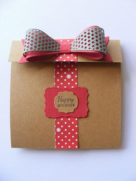 Crafts U Love Create & Festive Bow Card Holder