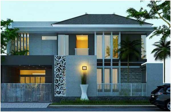 gambar atap rumah minimalis 2 lantai sederhana
