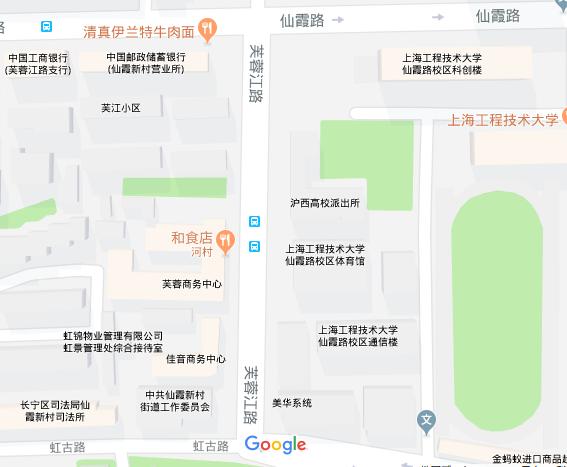 芙蓉江路の地図