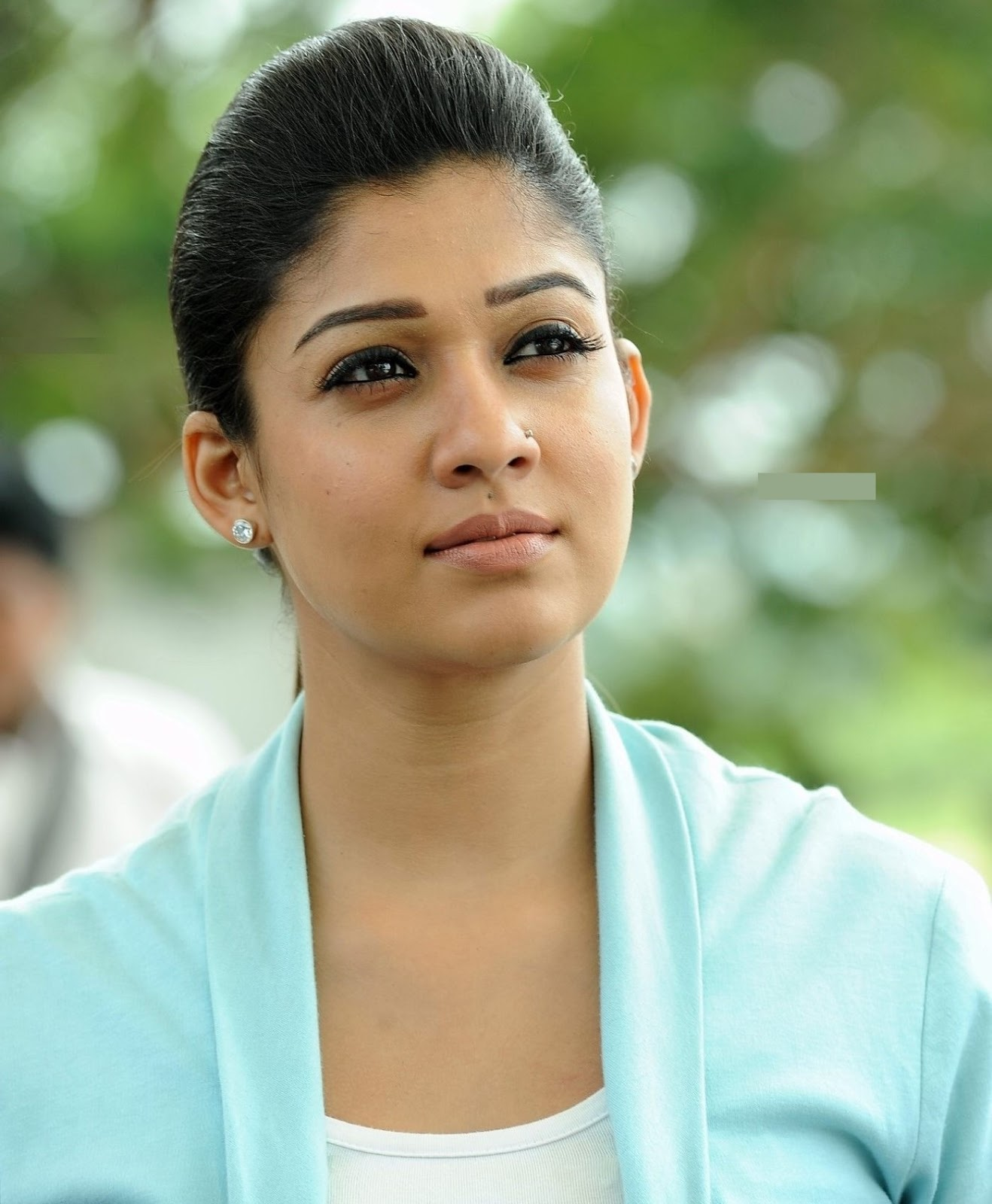 Nayantara Latest Face CloseUp Photos In Blue Dress
