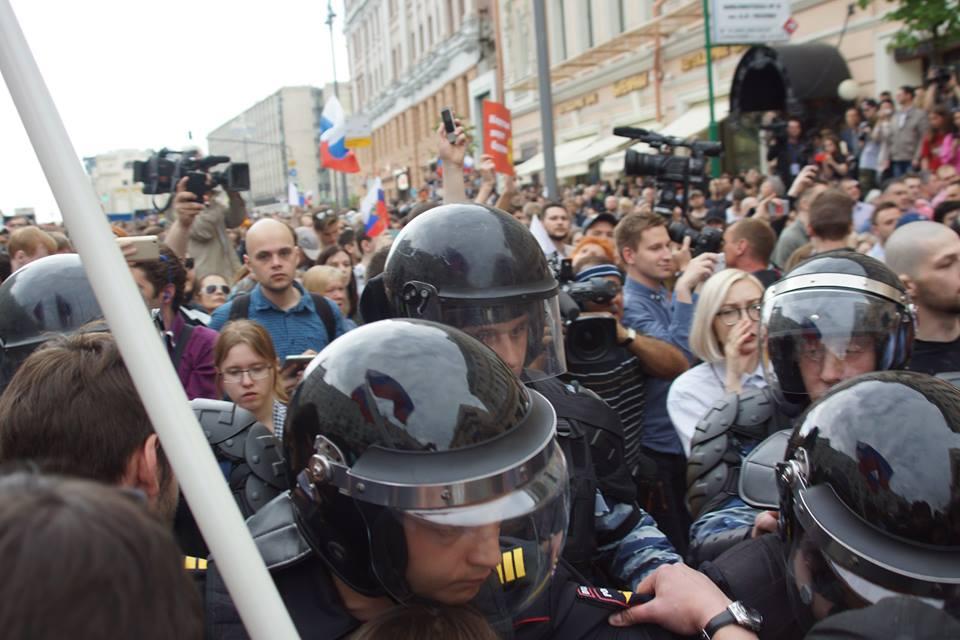 Акция против коррупции Тверская