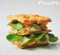 Sandwich de hojaldre con crema de bacon