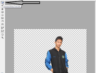 cara menggunakan forward warp tool di photoshp