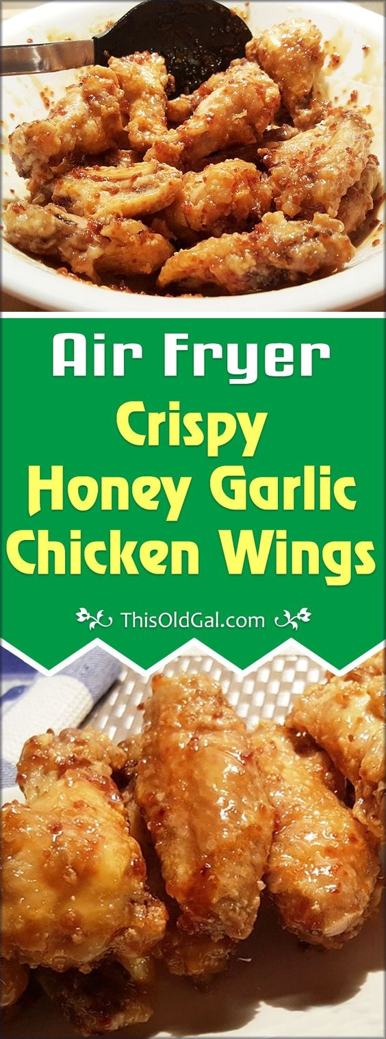 Air Fryer Honey Garlic Chicken Wings