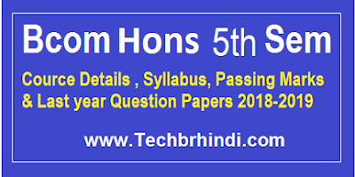 Bcom Hons 5th Sem Previous Question Papers Mdu 2017