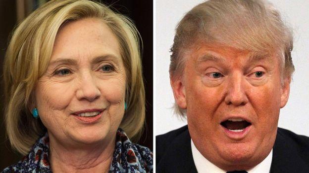 Hillary Clinton e Donald Trump disputam corrida pela Casa Branca