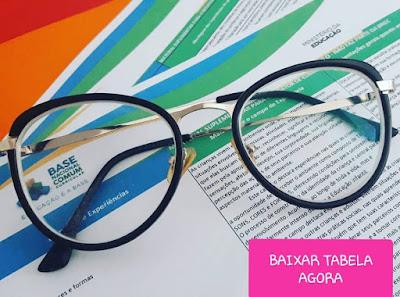 BNCC- Tabela com os direitos de aprendizagens, campos de experiências e material suplementar para o redator do currículo