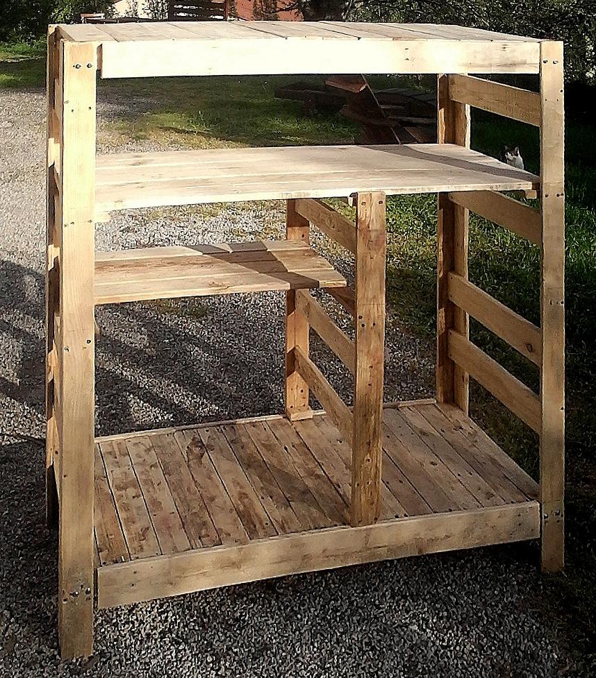 etagere en bois de palette with etagere en bois de. Black Bedroom Furniture Sets. Home Design Ideas
