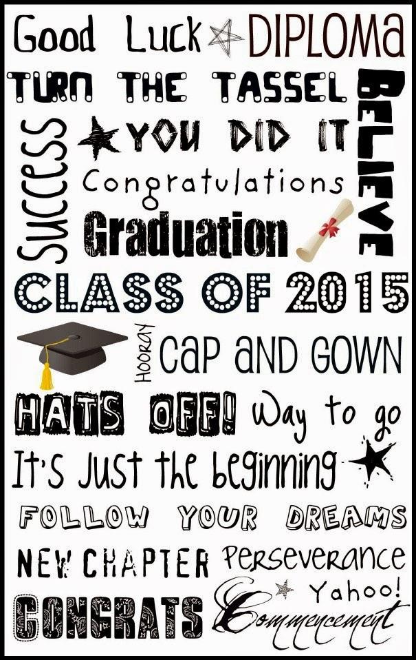 Upcycled Education Graduation Subway Art 2015 {Free Printable}