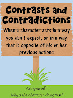 Contrasts and Contradictions- This blog post includes 6 free signpost posters and 12 passages!