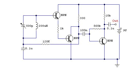 Simple Am Receiver Circuit Diagram 7 Pin Round Trailer Connector Transmitter Using Integrated