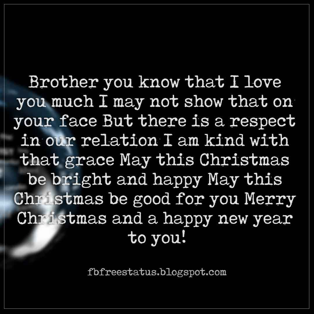 Happy Christmas Wishes For Brother