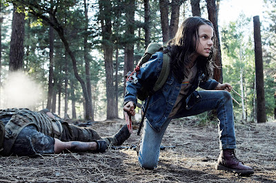 Dafne Keen playing the role of Logan's daughter Laura
