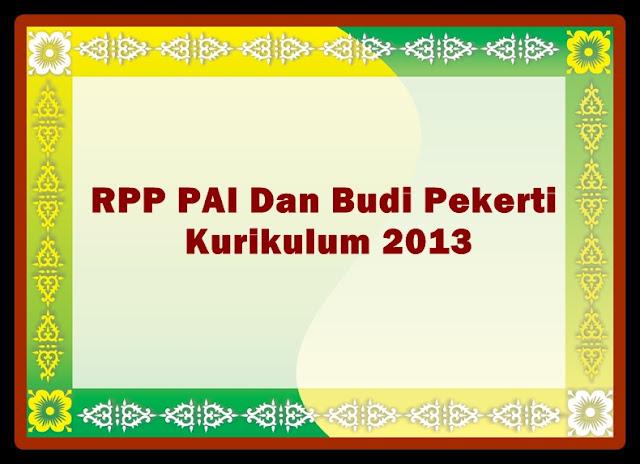 Download Contoh RPP PAI(Pendidikan Agama Islam) Terbaru Revisi 2017/2018