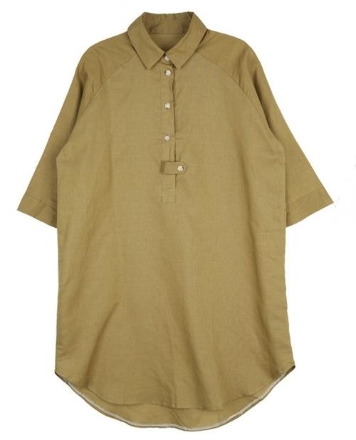 Button Tab Shirt Dress
