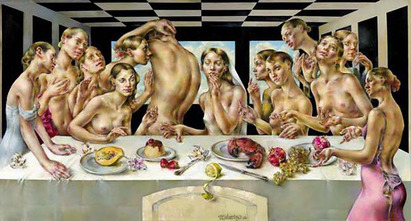 The Last Supper by artist Viktorija Bulava (1973)