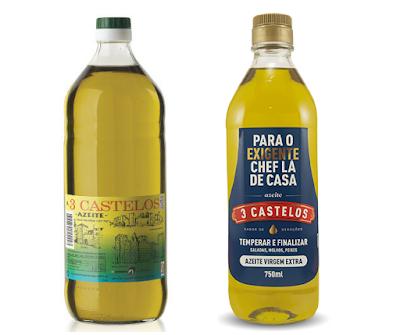 Azeite 3 castelos - versão antiga e moderna - azeite da minha infância