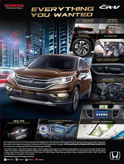 Promo Honda CRV Bandung 2016