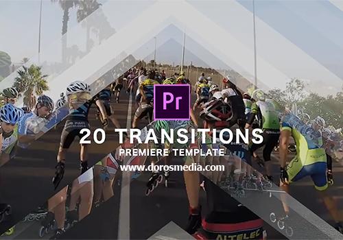 قوالب بريمير قوالب 20 انتقال مميزة للادوبي بريمير لعالم المونتاج  transitions  premiere pro templates