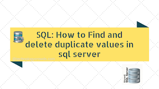 How to find and delete duplicate values in sql server