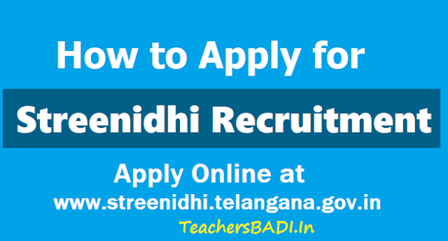 How to Apply for Streenidhi Recruitment 2018