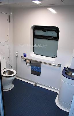 Toilet on ETS Train