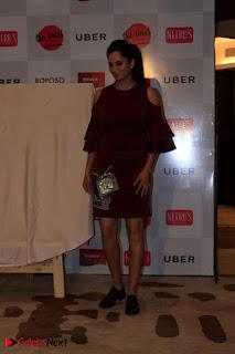 Indian Tennis Star Sania Mirza Pos in Red Short Dress at  0021.jpg