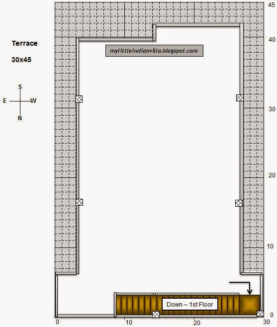 15 X 40 House Plan East Facing With Car Parking: My Little Indian Villa: #39#R32