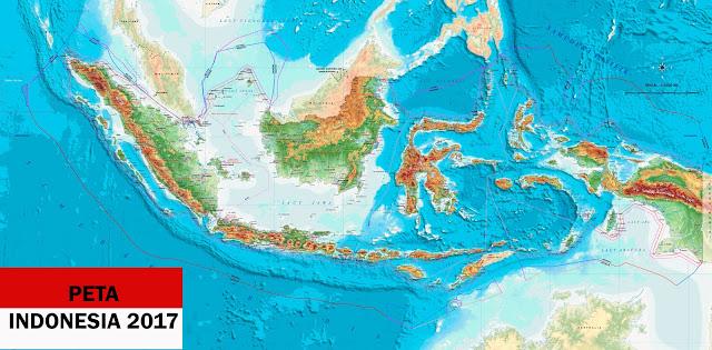 Peta Indonesia Terbaru 2017 Lengkap dan Jelas