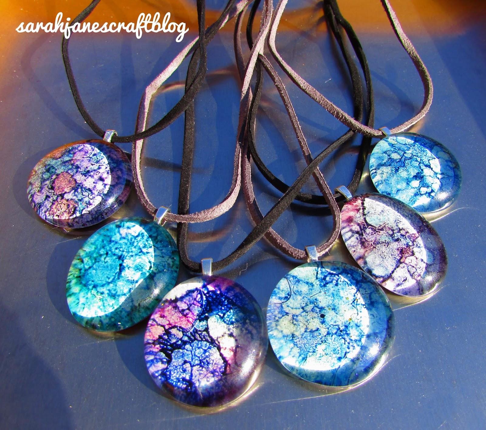 Sarah jane 39 s craft blog popular post recap alcohol ink for Glass jewels for crafts