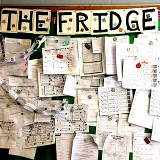 The Fridge bulletin board