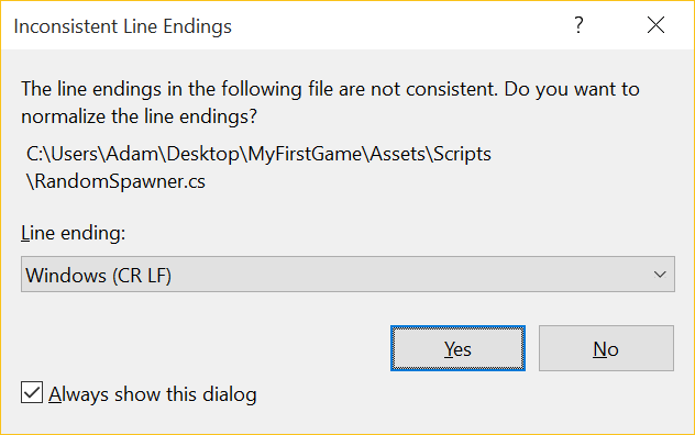 Adam Tuliper's Development Tips: Stop Visual Studio from complaining