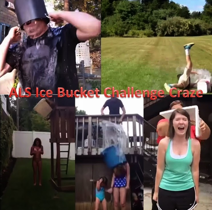 ALS Ice bucket challenge compilation 2014