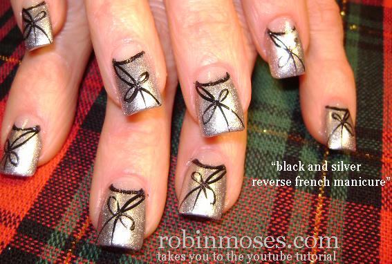 Nail Art By Robin Moses Nail Art Border Nail Art Red And Gold