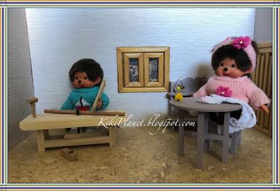 kiki monchhichi rideaux maison établi miniature outils mignon cute toyslife poupée doll