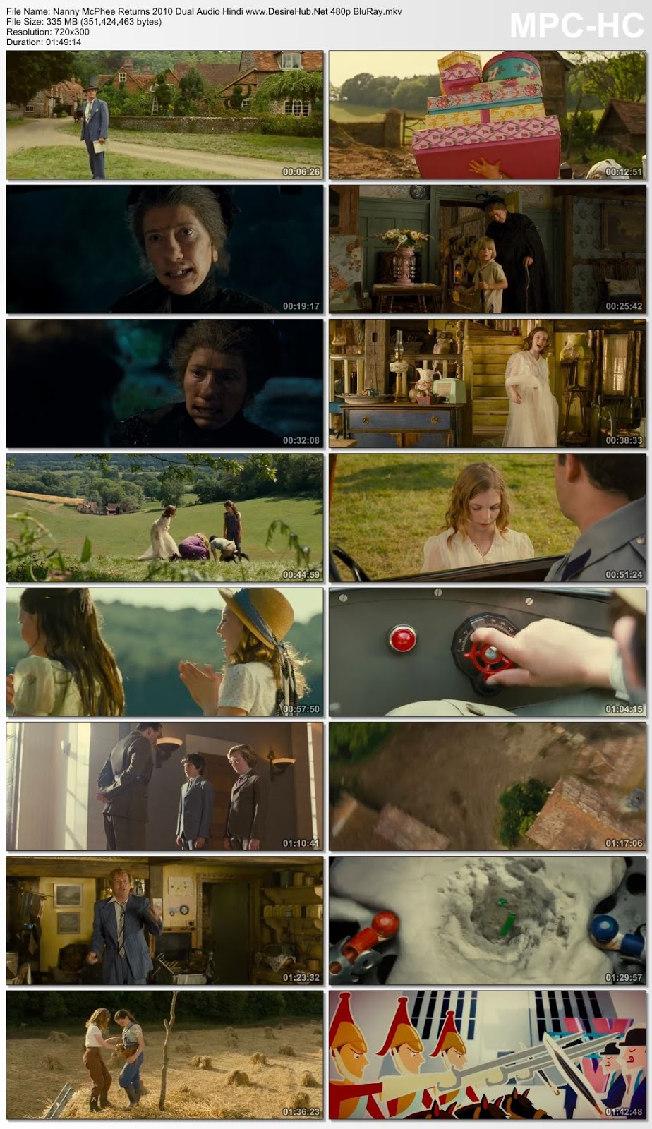 Nanny McPhee Returns 2010 Dual Audio Hindi 480p BluRay 300MB Desirehub