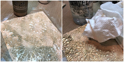 Mixed Media Techniques Tutorial by Sara Emily Barker for The Funkie Junkie Boutique https://frillyandfunkie.blogspot.com/2019/01/saturday-showcase-easy-mixed-media.html Tim Holtz Sizzix Alterations Ice Flake 3