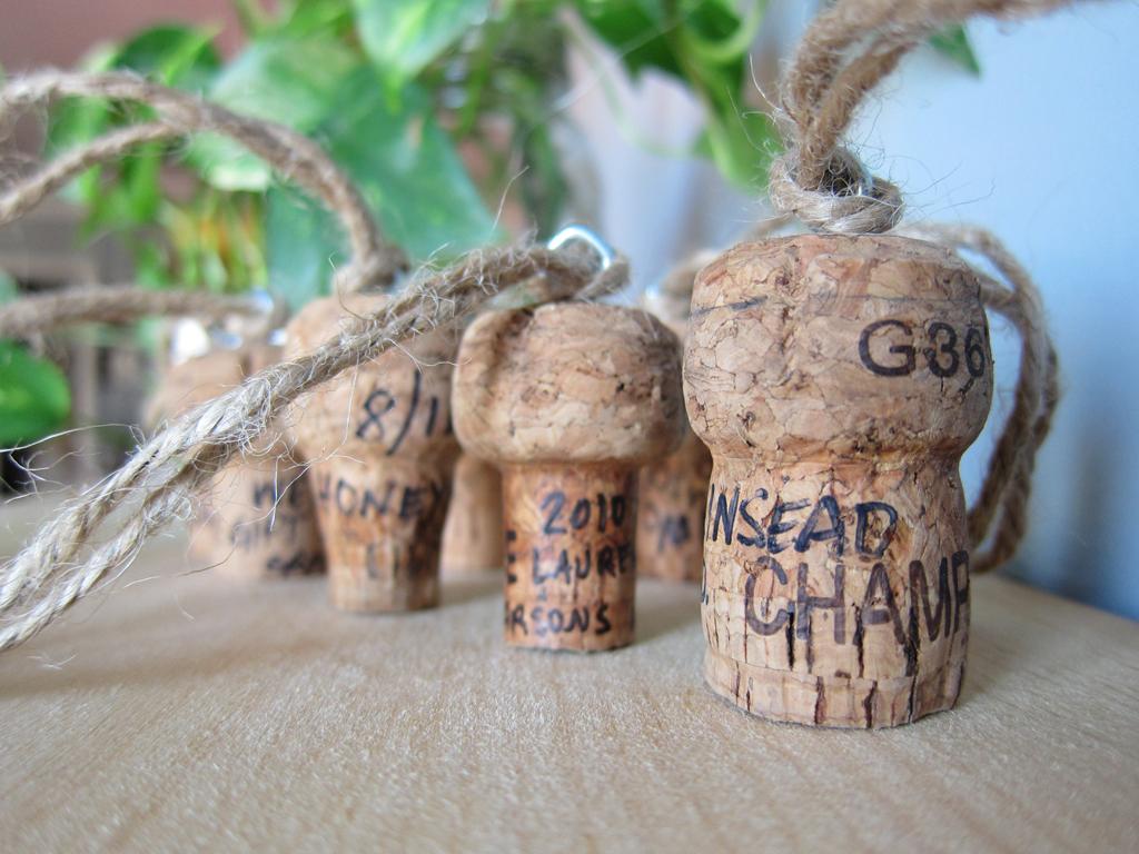 Good Idea: Champagne Cork Memento Ornaments