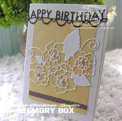 CAS happy birthday card in yellow front