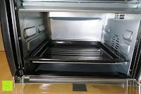 Blech unten: Andrew James – 23 Liter Mini Ofen und Grill mit 2 Kochplatten in Schwarz – 2900 Watt – 2 Jahre Garantie