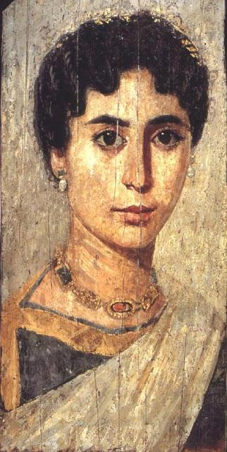 Posible retrato de Hipatia. Al-Fayyum. Egipto. (Atribución dudosa, pero mejor que la que pintó Rafael Sanzio)