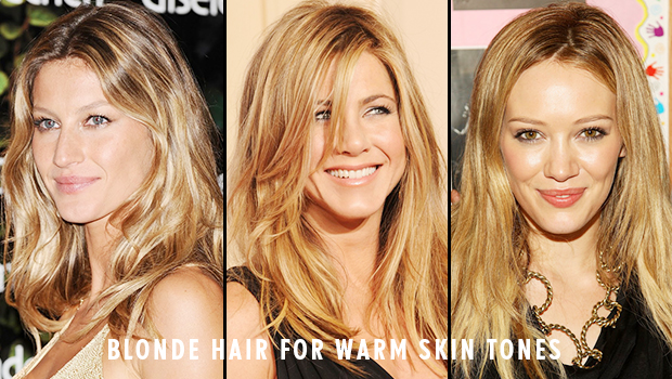 Blonde hair color warm skin tone