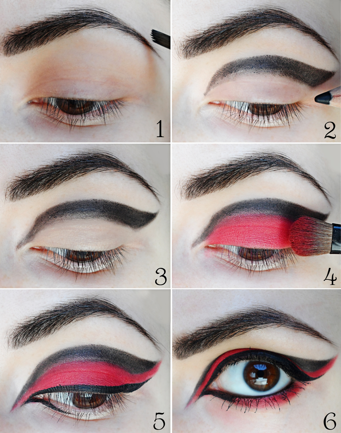 Eyeshadow Tutorial Videos: Gothic Red & Black Eyes