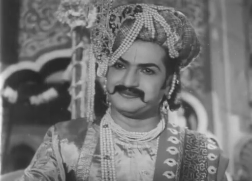 NTR as Krishnadeva Raya in the 1956 movie Tenali Rama Krishna