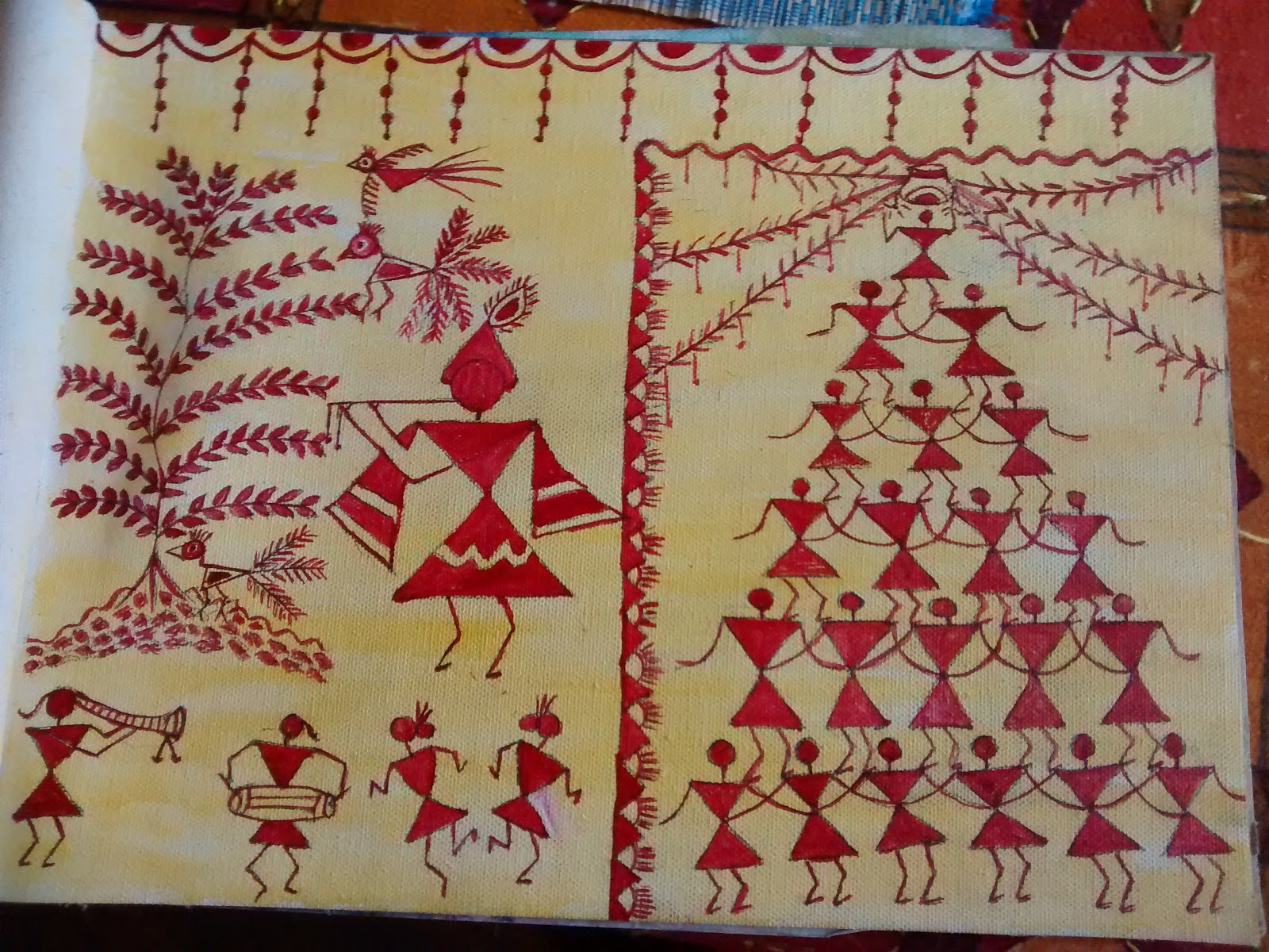Luv for krafts warli drawing