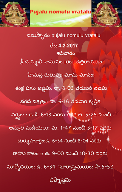 Today's panchangam in Telugu, Pujalu nomulu vratalu,rasi phalau in telugu ,rasiphalau in english