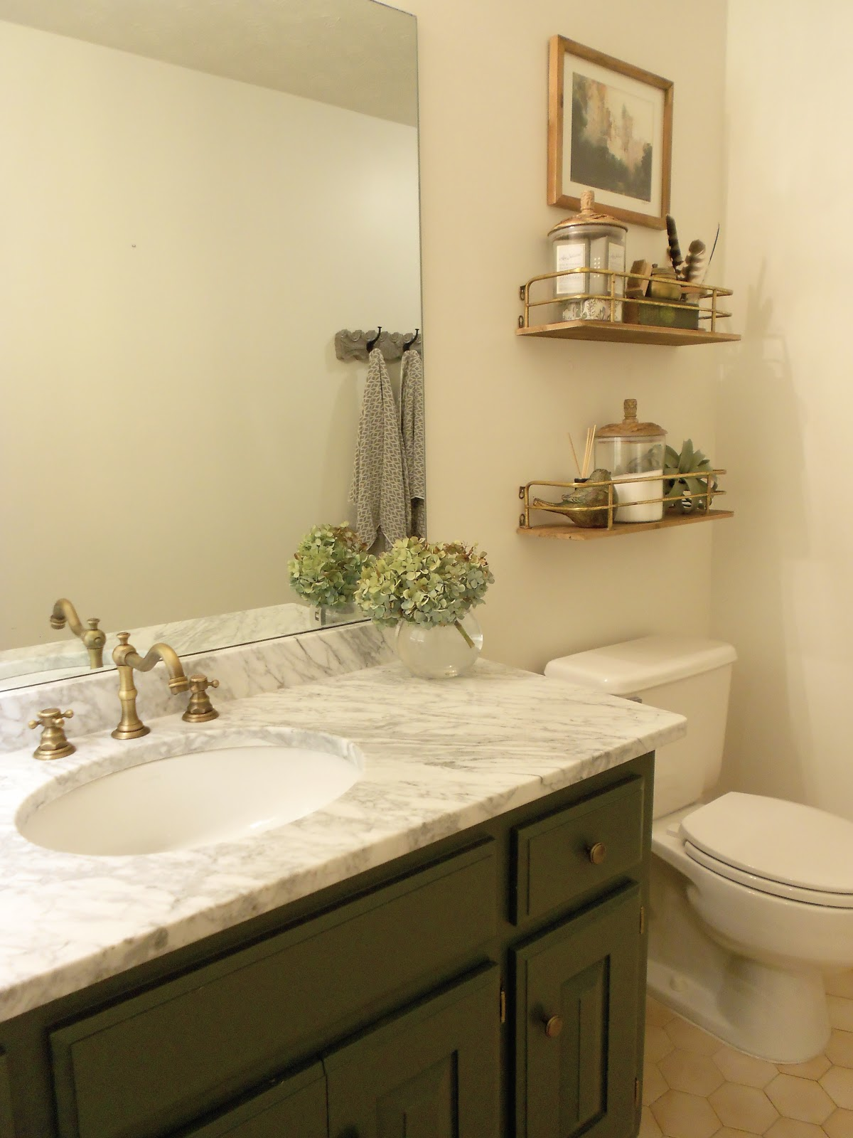 From Plans... Guest Bath Refresh