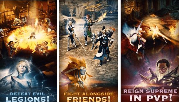 تحميل لعبة الأكشن Sacred legends لهواتف الأندرويد